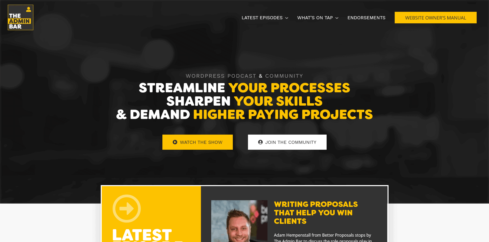 OLD TAB site UI
