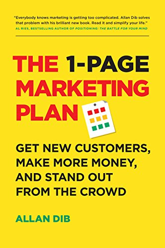 1 page marketing plan